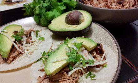 Pork Cilantro Carnitas with Avocado