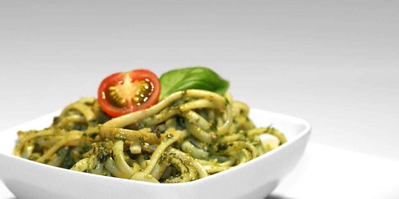 Spring Pesto Gluten-Free Spaghetti